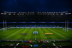 Exeter Chiefs and Wasps line up ahead of kick off - Mandatory by-line: Phil Mingo/Pool/JMP - 24/10/2020 - RUGBY - Twickenham Stadium - London, England - Exeter Chiefs v Wasps - Gallagher Premiership Rugby Final