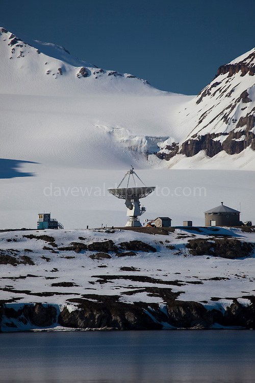 Space Geodetic Research Facility of the Norwegian Mapping Authority, Ny Alesund, Svalbard.  This is one of a network of such installations used to measure changes in the shape and movement of the earth, and it's rotation and axis position by following a pulsar, or pulsating star in space.