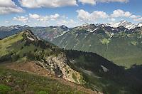View of North Cascades from Miner's Ridge, Glacier Peak Wilderness Washington