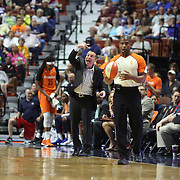 UNCASVILLE, CONNECTICUT- JULY 15:  Head Coach Curt Miller of the Connecticut Sun in action on the sideline during the Los Angeles Sparks Vs Connecticut Sun, WNBA regular season game at Mohegan Sun Arena on July 15, 2016 in Uncasville, Connecticut. (Photo by Tim Clayton/Corbis via Getty Images)