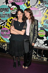 Left to right, KARMA NABULSI and BELLA FREUD at Hoping's Greatest Hits - the 10th Anniversary of The Hoping Foundation's charity benefit held at Ronnie Scott's, 47 Frith Street, Soho, London on 16th June 2016.