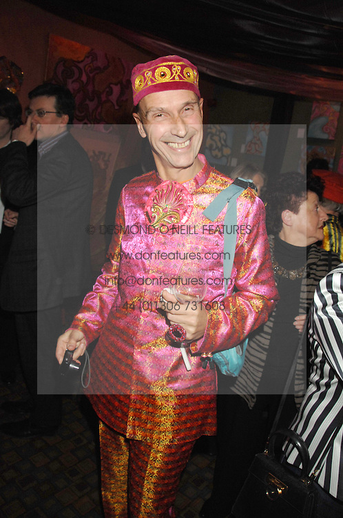 ANDREW LOGAN at a party for Countess Carolinda Tolstoy-Miloslavsky held at The Arts Club, 40 Dover Street, London on 15th April 2008.<br /><br />NON EXCLUSIVE - WORLD RIGHTS