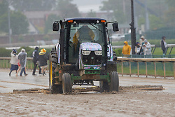 May 4, 2019 - Louisville, KY, U.S. - LOUISVILLE, KY - MAY 04: Church Hill Downs track maintenance staff works to prepare the track prior to the 145th running of the Kentucky Derby on May 4, 2019 at Churchill Downs, in Louisville, KY.(Photo by Jeffrey Brown/Icon Sportswire) (Credit Image: © Jeffrey Brown/Icon SMI via ZUMA Press)