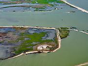 Nederland, Flevoland, Markermeer, 07-05-2021; Marker Wadden in het Markermeer. Gezien vanuit XXX<br /> Doel van het project van Natuurmonumenten en Rijkswaterstaat is natuurherstel, met name verbetering van de ecologie in het gebied, in het bijzonder de kwaliteit van bodem en water. De Marker Wadden archipel bestaat momenteel uit vijf eilanden, twee nieuwe eilanden zijn in ontwikkeling.<br /> Marker Wadden, artifial islands. The aim of the project is to restore the ecology in the area, in particular the quality of soil and water.<br /> The Marker Wadden archipelago currently consists of five islands, two new islands are under development.<br /> luchtfoto (toeslag op standard tarieven);<br /> aerial photo (additional fee required)<br /> copyright © 2021 foto/photo Siebe Swart