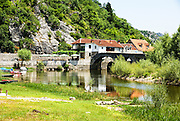 Rijeka Crnojevica is a town in Montenegro beside the river of Crnojevic - near the coast of Skadar lake.