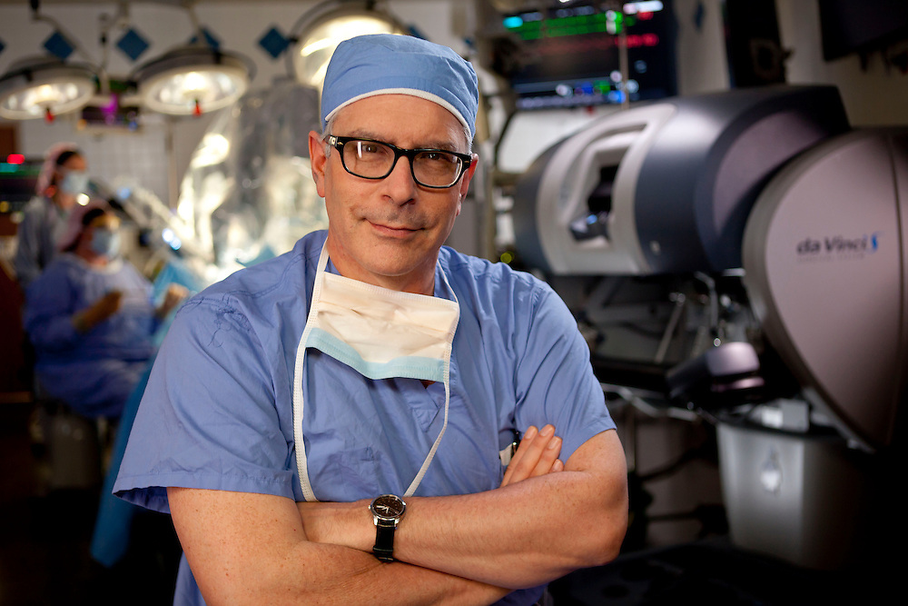 """Dr Bender in Da Vinci surgical suite for  """"It Has Always Been""""  SFMC Cape Girardeau, MO 6-6-11 Photo by Mike Roemer"""