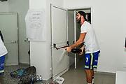 Lorenzo Bucarelli, Spogliatoi<br /> Banco di Sardegna Dinamo Sassari - Umana Reyer Venezia<br /> Finale Zurich Connect Supercoppa LBA 2019<br /> Bari, 22/09/2019<br /> Foto L.Canu / Ciamillo-Castoria