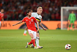 Joe Allen of Wales plays the ball  - Mandatory by-line: Joe Meredith/JMP - 01/07/2016 - FOOTBALL - Stade Pierre Mauroy - Lille, France - Wales v Belgium - UEFA European Championship quarter final