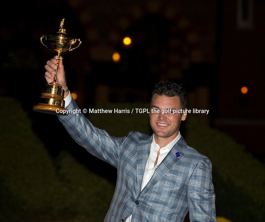 Martin KAYMER (EUR) with the trophy, Ryder Cup Matches 2012,Medinah CC,Medinah, Illinois,USA.