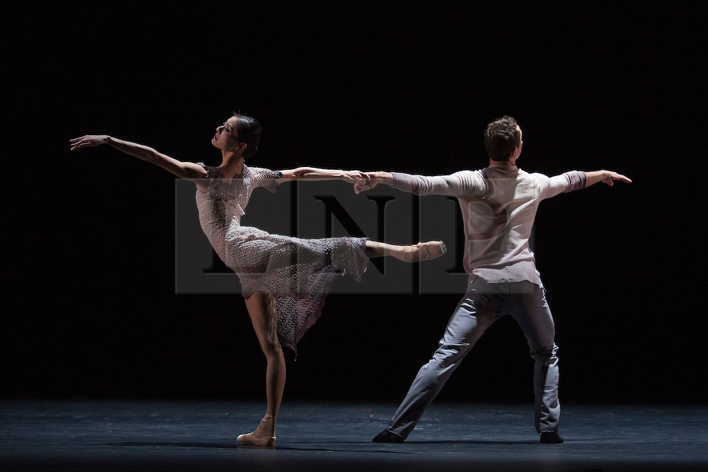 © Licensed to London News Pictures. 14/11/2013. London, England. Pictured: Finding Light by Edwaard Liang with dancers Yuan Yuan Tan & Damian Smith. This programme is a new British-Chinese collaboration exploring where classical meets contemporary dance, featuring the  Chinese prima ballerina Yuan Yuan Tan, principal dancer with San Francisco Ballet and the Taiwanese virtuoso Fang-Yi Sheu. The evening includes three UK premieres choreographed by Taiwanese-born American Edwaard Liang, and Sadler's Wells Associate Artists Russell Maliphant and Christopher Wheeldon. Photo credit: Bettina Strenske/LNP