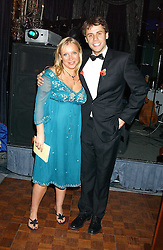 EMMA SCANLON and RICHARD BACON at the Chain of Hope 10th Anniversary Ball held at The Dorchester, Park Lane, London on 1st November 2005.<br /><br />NON EXCLUSIVE - WORLD RIGHTS