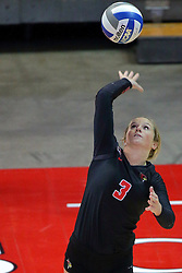 18 November 2016:  Courtney Pence during an NCAA women's volleyball match between the Northern Iowa Panthers and the Illinois State Redbirds at Redbird Arena in Normal IL (Photo by Alan Look)