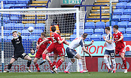 Bolton Wanderers Daryl Murphy heads the ball during the EFL Sky Bet League 1 match between Bolton Wanderers and Accrington Stanley at the University of  Bolton Stadium, Bolton, England on 29 February 2020.