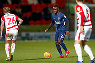 Southend United defender Elvis Bwomono (2) in action  during the EFL Sky Bet League 1 match between Doncaster Rovers and Southend United at the Keepmoat Stadium, Doncaster, England on 12 February 2019.