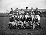 14/2/1953<br /> 2/14/1953<br /> 14 February 1953 <br /> Soccer, football: Cork United v Drumcondra at Tolka Park, Dublin.  The Cork team.