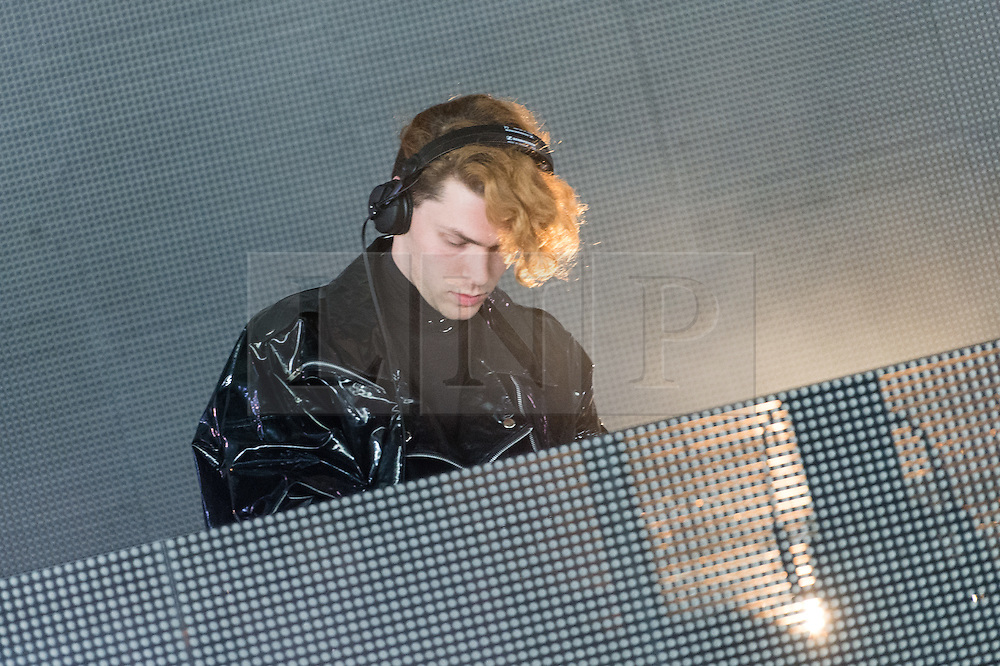© Licensed to London News Pictures. 06/06/2015. London, UK.   SOPHIE performing at Field Day Festival Saturday Day 1.   Sophie (stylised as SOPHIE), real name Samuel Long, is a London-based electronic music producer who has worked closely with artists from the PC Music label and produced for acts including QT,Madonna and Namie Amuro.   Photo credit : Richard Isaac/LNP