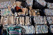 Belo Horizonte_MG, Brasil...Pessoa trabalhando na Comunidade Associada para a Reciclagem de Material da Regiao da Pampulha (COMARP)...The person working in the Comunidade Associada para a Reciclagem de Material da Regiao da Pampulha (COMARP)...Foto: VICTOR SCHWANER /  NITRO