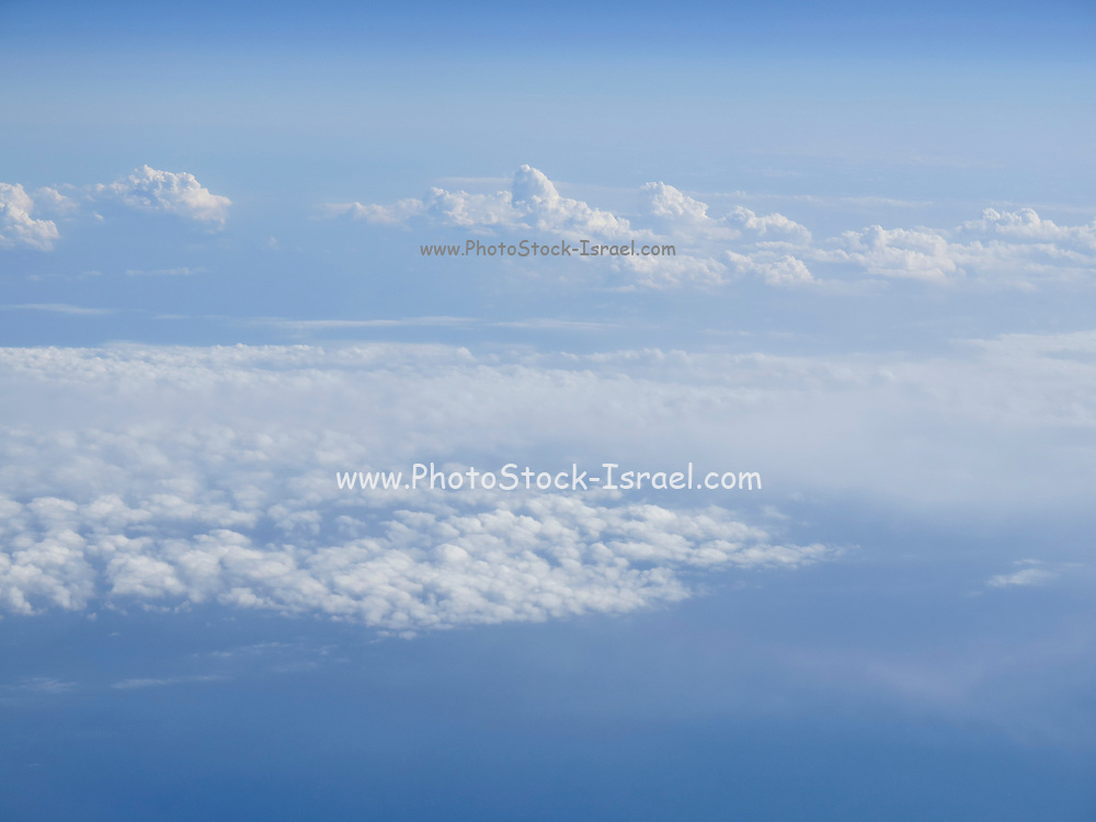 Beautiful cloudscape on a blue sky as seen from above