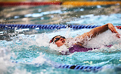 11082018 (Durban) Top Swimmer Ilinde Du Plesssis competing in Woman 50 meters backstroke heat 11 during the coastal city of Durban play host to the 2018 SA National Swimming Championships (25m), with the action set to start from 9th to 12th August at the Kings Park Aquatics Centre.Picture: Motshwari Mofokeng/African News Agency (ANA)