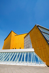 Exterior view of Berlin Philharmonie concert hall, home of Berlin Philharmonic (Berliner Philharmoniker) orchestra in Berlin, Germany