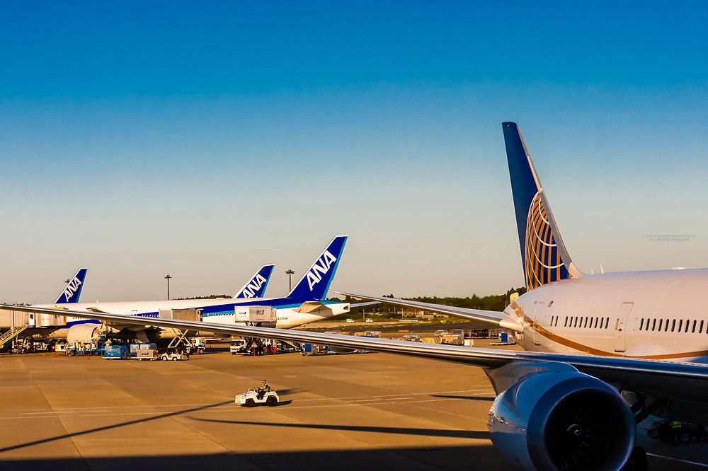 Narita International Airport, Tokyo, Japan.