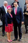 Aankomst van Kamerleden bij de Ridderzaal voor Prinsjesdag in Den Haag<br /> <br /> Op de foto :<br /> <br /> <br />  SP-lijsttrekker Emile Roemer en partner