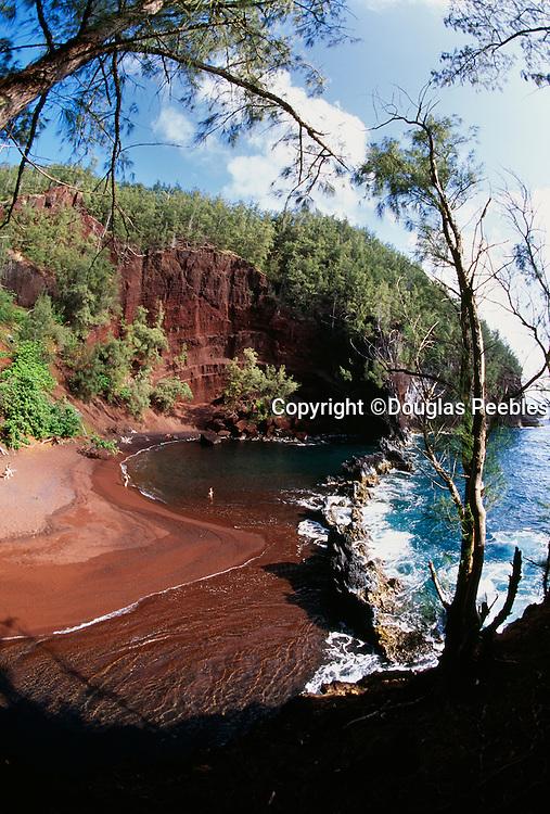 .Kaihalulu Red Sand Beach, Hana, Maui