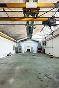 Large industrial garage abandoned, interior