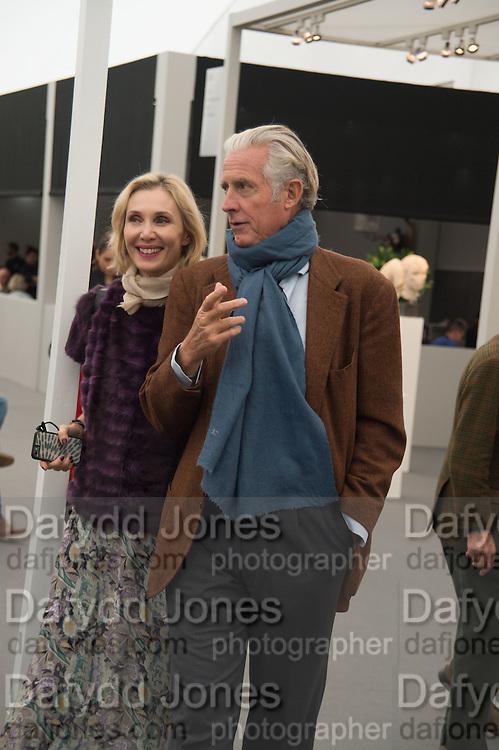 ALLEGRA HICKS; ROBERTO MOTTOLA, Opening of Frieze Masters, Regents Park, London 12 October 2015