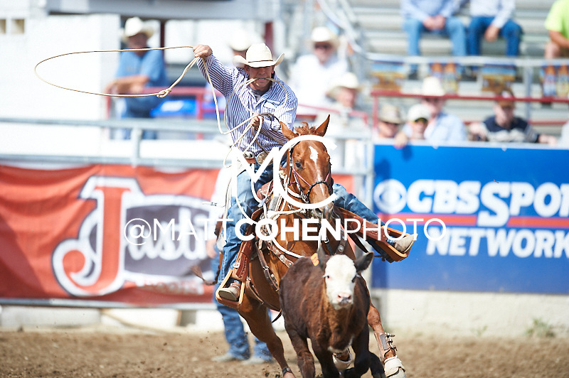 Tie-down roper Cy Eames of Goodling, ID competes at the Redding Rodeo in Redding, CA<br /> <br /> <br /> UNEDITED LOW-RES PREVIEW<br /> <br /> <br /> File shown may be an unedited low resolution version used as a proof only. All prints are 100% guaranteed for quality. Sizes 8x10+ come with a version for personal social media. I am currently not selling downloads for commercial/brand use.