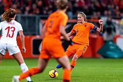 09-11-2018 NED: UEFA WC play-off final Netherlands - Switzerland, Utrecht<br /> European qualifying for the 2019 FIFA Women's World Cup - Anouk Dekker #6 of Netherlands