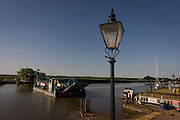The chain ferry crossing the River Yare in Reedham on the Norfolk Broads.