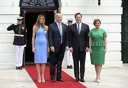 June 19, 2017 - Washington, DC, USA - President Donald Trump and First Lady Melania Trump welcome President Juan Carlos Varela and Mrs. Varela of Panama on the South Portico of the White House, on June 19, 2017. (Credit Image: © Olivier Douliery/TNS via ZUMA Wire)