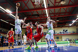 Gezim Morina of Slovenia during basketball match between National teams of Slovenia and Spain in Qualifying Round of U20 Men European Championship Slovenia 2012, on July 18, 2012 in Domzale, Slovenia. Slovenia defeated Spain 70-63. (Photo by Vid Ponikvar / Sportida.com)