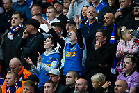 Football - 2021 / 2022 UEFA Europa League - Qualifying - 1st Leg - Glasgow Rangers vs Alashkert - Ibrox Stadium<br /> <br /> Rangers fans are seen during the game<br /> <br /> Credit: COLORSPORT/Bruce White
