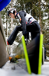 Jernej Damjan of Slovenia during Trial round of the FIS Ski Jumping World Cup event of the 58th Four Hills ski jumping tournament, on January 6, 2010 in Bischofshofen, Austria. (Photo by Vid Ponikvar / Sportida)
