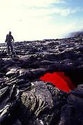 Skylight, Kilauea Volcano, Hawaii Volcanoes National Park, Island of Hawaii, Hawaii, USA<br />