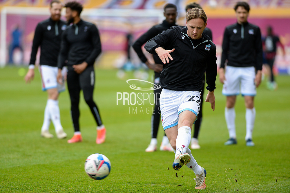 Scunthorpe United Alfie Beestin (22) warming up during the EFL Sky Bet League 2 match between Bradford City and Scunthorpe United at the Utilita Energy Stadium, Bradford, England on 1 May 2021.