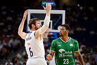 Real Madrid's Andres Nocioni and Unicaja Malaga's Jeff Brooks during semi finals of playoff Liga Endesa match between Real Madrid and Unicaja Malaga at Wizink Center in Madrid, May 31, 2017. Spain.<br /> (ALTERPHOTOS/BorjaB.Hojas)