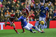 Everton defender Ramiro Funes Mori  during the Capital One Cup match between Middlesbrough and Everton at the Riverside Stadium, Middlesbrough, England on 1 December 2015. Photo by Simon Davies.
