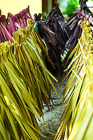 Sugar palm tree leaves an abundant, natural and recyclable resource is often used for making thatch and weaving materials thanks to its abundance and low cost in the tropics.