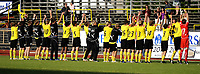 Fotball<br /> 21 juni 2009<br /> Adeccoligaen<br /> Moss FK - Mjøndalen IF<br /> Moss FK hyller fansen etter 2 - 0 seier over Mjøndalen IF<br /> Foto : Reidar Talset , Digitalsport