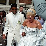 Huwelijk Patrick Kluivert en Angela van Hulten Amsterdam,