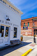Cooks corner drug store, Jacksonville, Oregon USA
