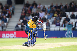 June 21, 2019 - Leeds, Yorkshire, United Kingdom - Angelo Mathews of Sri Lanka batting during the ICC Cricket World Cup 2019 match between England and Sri Lanka at Headingley Carnegie Stadium, Leeds on Friday 21st June 2019. (Credit Image: © Mi News/NurPhoto via ZUMA Press)