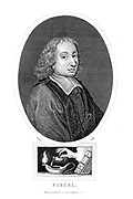 Blaise Pascal (19 June 1623 – 19 August 1662) was a French mathematician, physicist, inventor, philosopher, writer and Catholic theologian. He was a child prodigy who was educated by his father, a tax collector in Rouen. Pascal's earliest mathematical work was on the conics sections; he wrote a significant treatise on the subject of projective geometry at the age of 16. He later corresponded with Pierre de Fermat on probability theory, strongly influencing the development of modern economics and social science. In 1642, while still a teenager, he started some pioneering work on calculating machines (called Pascal's calculators and later Pascalines), establishing him as one of the first two inventors of the mechanical calculator. Copperplate engraving From the Encyclopaedia Londinensis or, Universal dictionary of arts, sciences, and literature; Volume XVIII;  Edited by Wilkes, John. Published in London in 1821