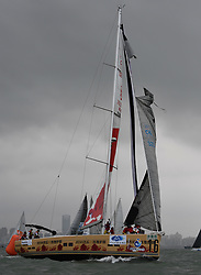 HAIKOU, March 16, 2019  The jib of the yacht called ''Fruits Island'' is broken during the Haikou Offshore Race of IRC and Dubois 50 class at the 2019 Round Hainan Regatta in Haikou, capital of south China's Hainan Province, March 16, 2019. (Credit Image: © Xinhua via ZUMA Wire)
