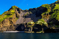 Vestmannaeyjar Islands off the south coast of Iceland. Heimaey is the main island.