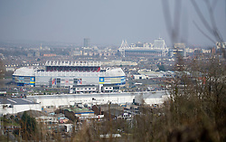 General View of Cardiff City stadium with the millennium stadium in the back ground.   - Photo mandatory by-line: Alex James/JMP - Mobile: 07966 386802 - 17/03/2015 - SPORT - Football - Cardiff - Cardiff City Stadium - Cardiff City v AFC Bournemouth - Sky Bet Championship