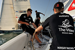 Torvar Mirsky and his team training at Portugal Match Cup. Photo:Chris Davies/WMRT